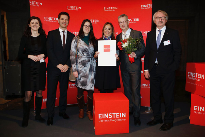 Marion Müller, Steffen Krach, Nevena Palic, Forough Sodoudi, Günter M.Ziegler, Günter Stock © Einstein Foundation/ Sebastian Gabsch